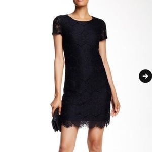NWT Laundry by Shelli Segal Black Lace Dress Sz12